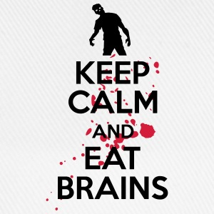 Keep calm and eat brains T-shirts - Basebollkeps