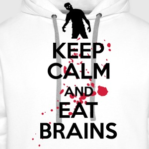 Keep calm and eat brains T-shirts - Premiumluvtröja herr