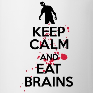 Keep calm and eat brains Koszulki - Kubek