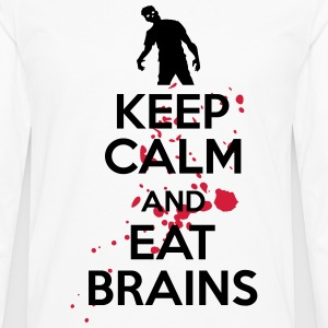 Keep calm and eat brains Tee shirts - T-shirt manches longues Premium Homme