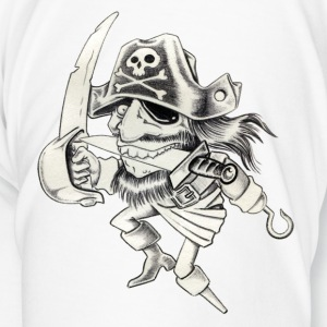 Blanc pirate Tasses - T-shirt Premium Homme