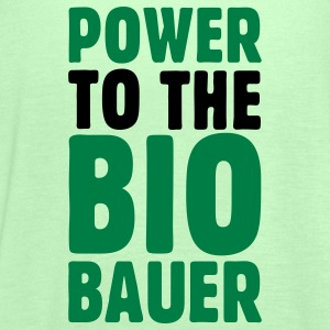 Power to the Biobauer Bio T-Shirt - Frauen Tank Top von Bella