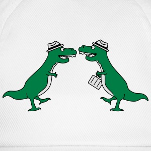 Two Welcome Handshake Businessman T-Rex Felpe - Cappello con visiera
