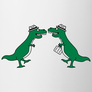 Two Welcome Handshake Businessman T-Rex Sweat-shirts - Tasse