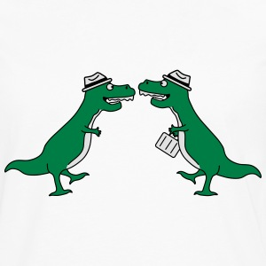 Two Welcome Handshake Businessman T-Rex Sweat-shirts - T-shirt manches longues Premium Homme