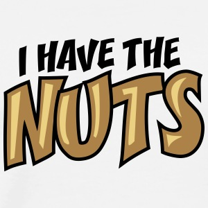I Have The Nuts Design Tröjor - Premium-T-shirt herr
