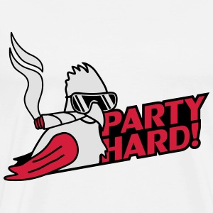 Cool Party Hard Parrot Bird Gensere - Premium T-skjorte for menn