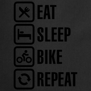 Eat, sleep, bike Shirts - Keukenschort