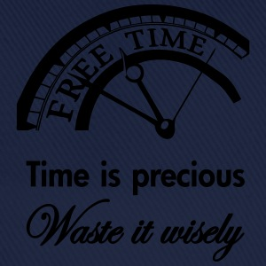 Time is precious, waste it wisely Shirts - Baseballcap
