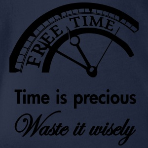 Time is precious, waste it wisely Shirts - Baby bio-rompertje met korte mouwen