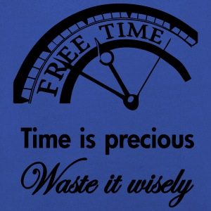 Time is precious, waste it wisely Shirts - Kinderen trui Premium met capuchon