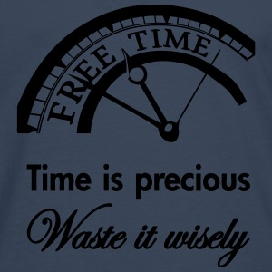 Time is precious, waste it wisely Shirts - Mannen Premium shirt met lange mouwen