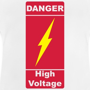 Danger ! High Voltage ! Flash 2c Skjorter - Baby-T-skjorte
