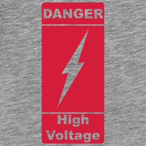Danger ! High Voltage ! Lyn 1c Tilbehør - Premium T-skjorte for menn