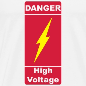 Danger! High Voltage!  2c Sudaderas - Camiseta premium hombre