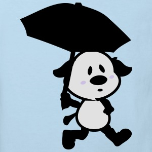 Puppy with umbrella Baby Long Sleeve One Piece - Kids' Organic T-shirt