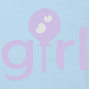 girl text logo Baby Long Sleeve One Piece - Kids' Organic T-shirt