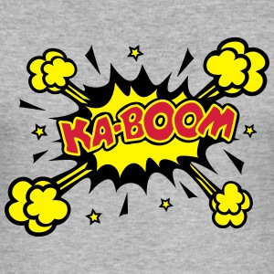 KABOOM, comic bubble, Sprechblase, Blase, Text,  - Männer Slim Fit T-Shirt
