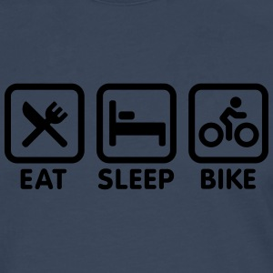 Eat Sleep Bike Cycling Shirts - Men's Premium Longsleeve Shirt