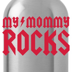 Zwart My mommy rocks Baby body - Drinkfles