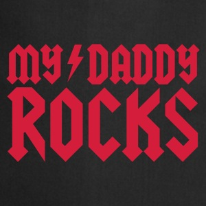 Zwart My daddy rocks Kinder shirts - Keukenschort