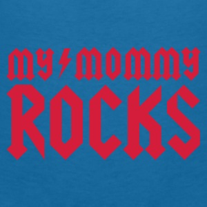 Black My mommy rocks Accessories - Women's V-Neck T-Shirt