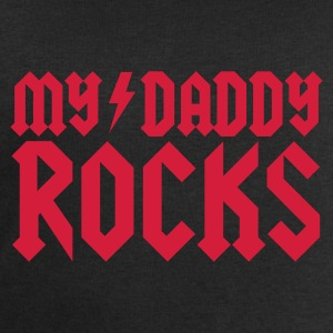 Black My daddy rocks Kid's Shirts  - Men's Sweatshirt by Stanley & Stella