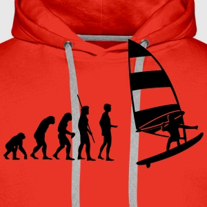 Evolution Windsurfer Shirt - Männer Premium Hoodie