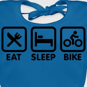 Eat sleep bike T-Shirts - Baby Bio-Lätzchen