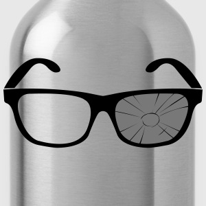 broken glasses  T-Shirts - Water Bottle
