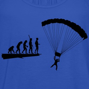 Evolution parachutist  T-Shirts - Women's Tank Top by Bella