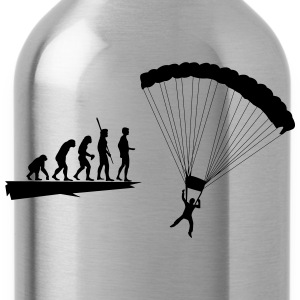 Evolution parachutist  T-Shirts - Water Bottle