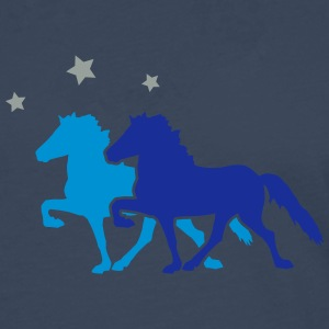 Two Horses with silver-metallic Stars  T-skjorter - Premium langermet T-skjorte for menn