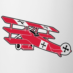 Fokker Roter Baron Red Air Combat First World War  Camisetas - Taza
