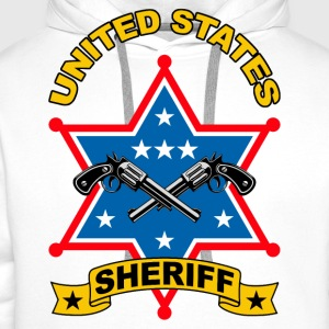 sheriff united states Shirts - Men's Premium Hoodie