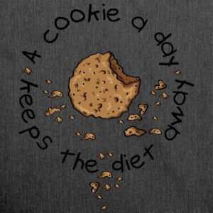 A cookie a day, keeps the diet away Gensere - Skulderveske av resirkulert materiale