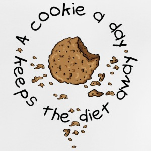 A cookie a day, keeps the diet away Magliette - Maglietta per neonato