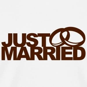Just Married Ring Bouteilles et tasses - T-shirt Premium Homme