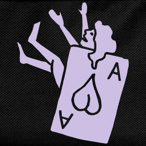 Poker Herz Heart Ass Ace Frau Woman Girl Pinup T-shirts - Rygsæk til børn