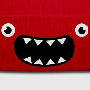 Funny Monster Face T-shirts - Vintermössa