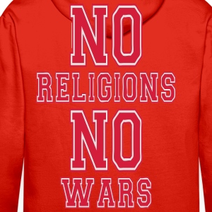 no religions no wars T-Shirts - Men's Premium Hoodie