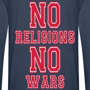 no religions no wars Sweat-shirts - T-shirt manches longues Premium Homme