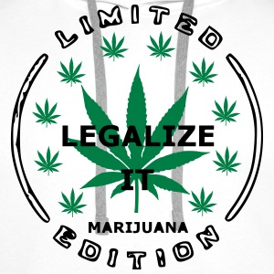 Legalize it - Sweat-shirt à capuche Premium pour hommes