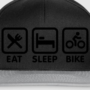 Eat sleep bike Tee shirts - Casquette snapback
