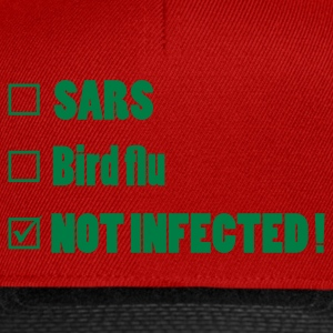 Rood not_infected Sweaters - Snapback cap