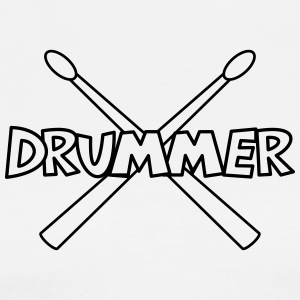 Drummer with crossed Drumsticks  Aprons - Men's Premium T-Shirt