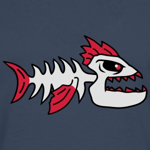 Fish Bone Punk Monster Tee shirts - T-shirt manches longues Premium Homme
