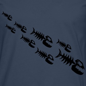 Fish Bone Monsters Tee shirts - T-shirt manches longues Premium Homme