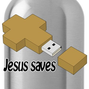 jesus saves usb T-Shirts - Trinkflasche