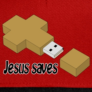 jesus saves usb T-Shirts - Snapback Cap